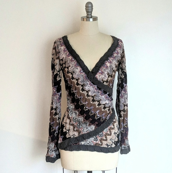 e10bc2ce629 Vintage Missoni Orange Label Knit Blouse. M 5c85639aaaa5b8fd7ca0a2fe. Other  Tops ...